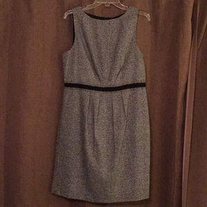 LOFT wool/polyester gray/black dress. EUC
